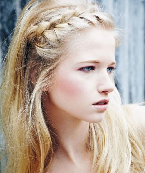 side swept boho braid teenage hair