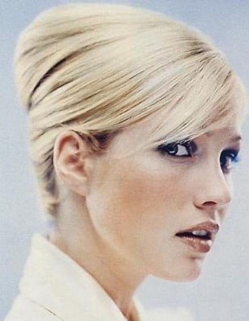 french twist blonde
