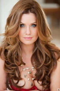 ombre hair ruffles and curls