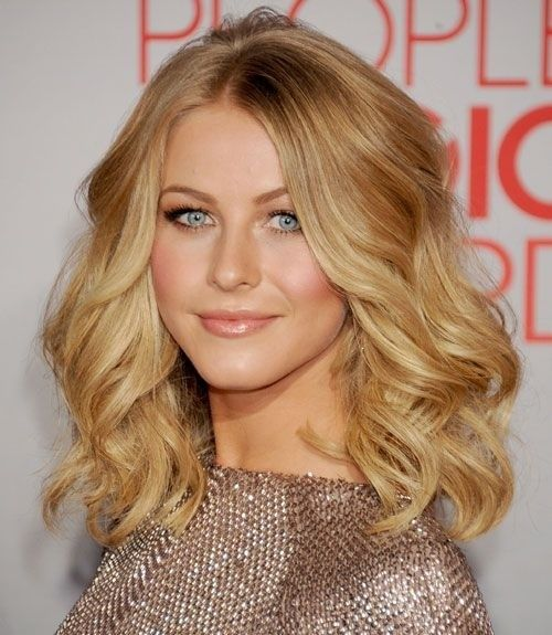 blonde curls medium length