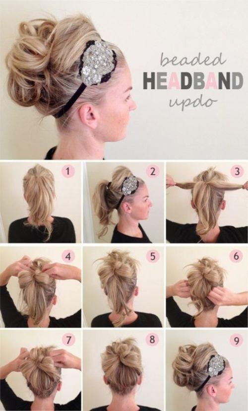 Beaded Headband Up Do
