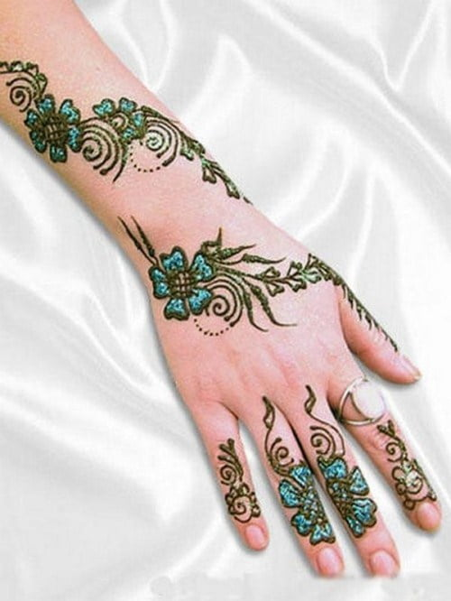 Black Mehndi for Full Hands