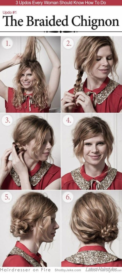 51 amazing hairstyles for curly hair that you can do yourself braided chignon solutioingenieria Gallery