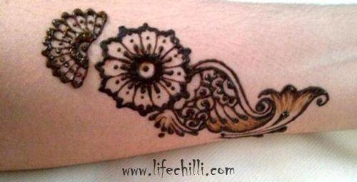 Floral Design for Wrist