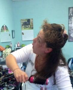 Hair Spray Rocks to Achieve A Dazzling Look