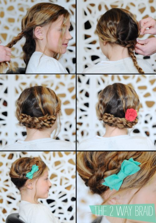 Heidi Braids with Bows