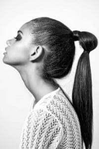 High ponytail bound twice