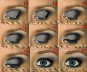 Hooded makeup