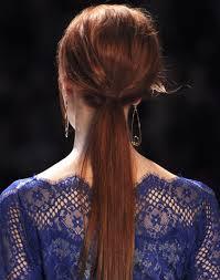 Low Ponytail Teased Hair