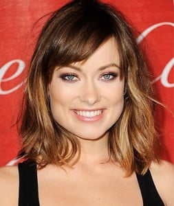 Mussed long bob with bangs