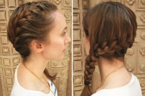 One Side Lined French Braid
