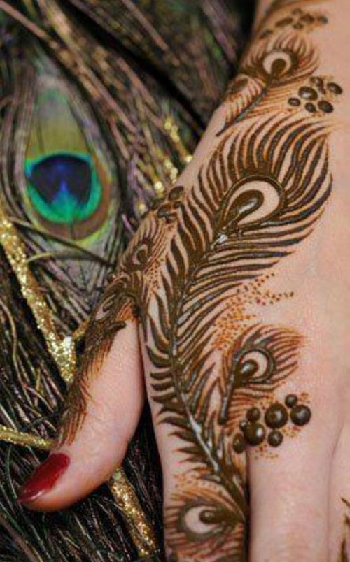 Henna Peacock: 15 Wonderful Bridal Mehndi Designs For Hands And Feet