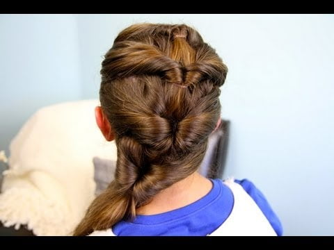 Quadruple Flipped Ponytail