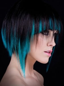 Short and Electric Blue