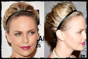 Up Do with an Elastic Band