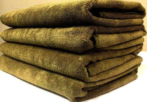 Use Superabsorbent Microfiber Towels