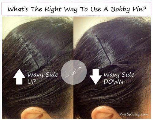 Use bobby pins the right way