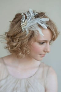 Wavy Hair with Feathery Accessories