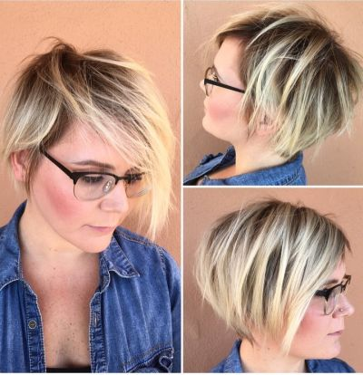 choppy layered cut with long fringe