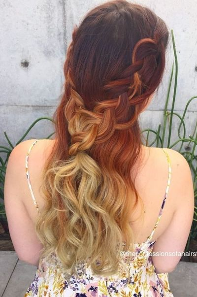 Double cascade braids into one