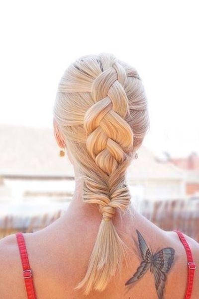 Dutch braid into fishtail
