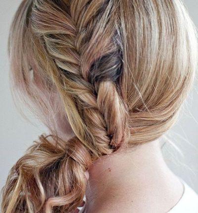 Fishtail wrap braid