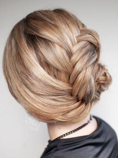 French fishtail braid chignon