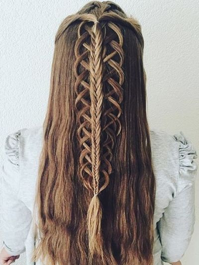Gorgeous stacked braids
