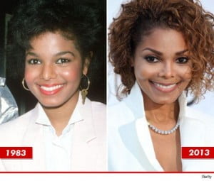 Janet Jackson then and now