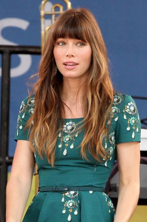 Jessica Biel long ombre hair