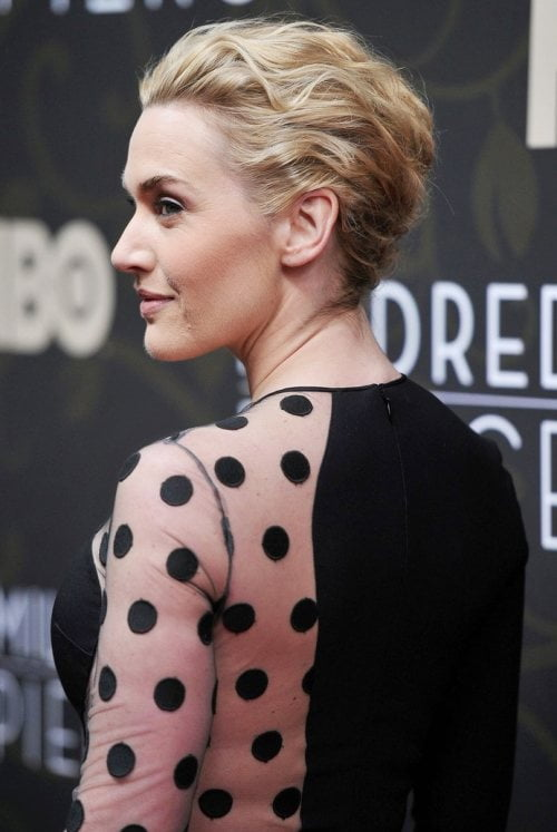 kate winslet red carpet updo