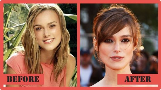 Keira Knightley then and now