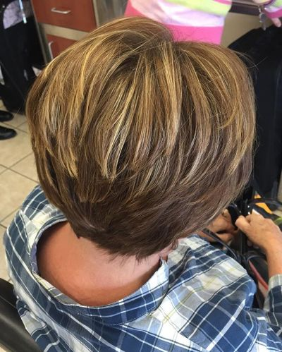 layered haircut with a partial foil