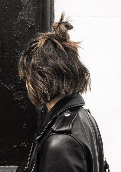 layered and top knot
