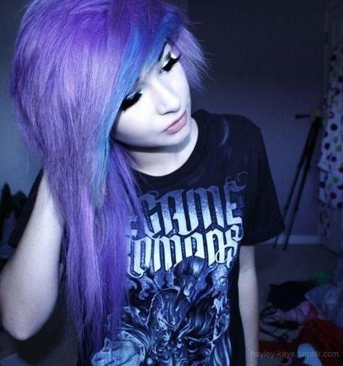 Multicolor Emo Hair