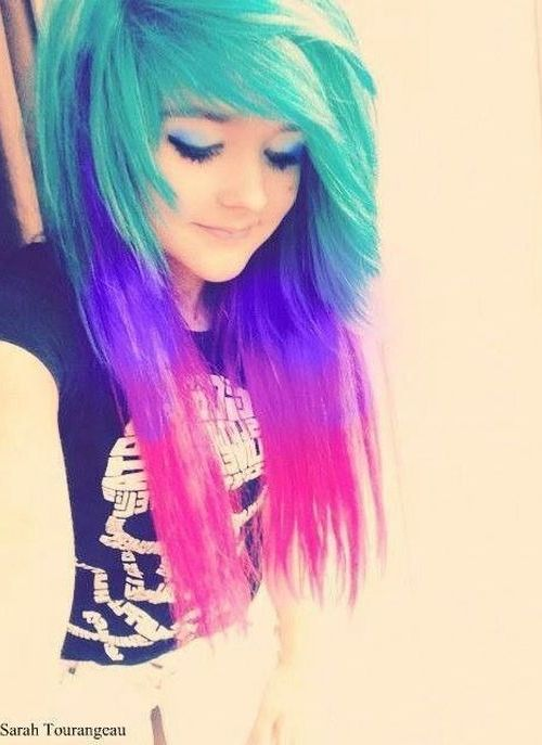 Party Emo Hairstyle for Girls