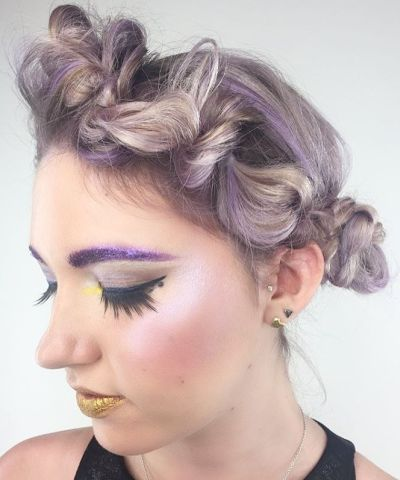 Pastel faux braid crown