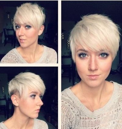 Pixie undercut hairstyle for thin hair