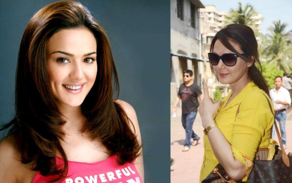 Preity Zinta then (2003) and now (2014)