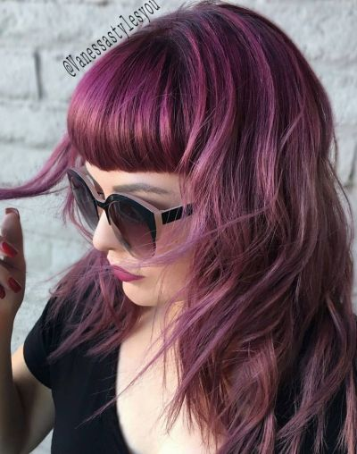 purplr layered hair