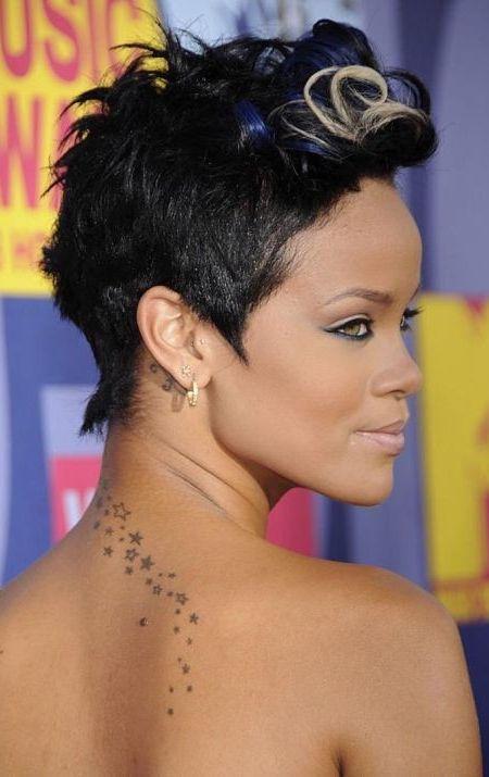Rihanna's Pompadour Hairstyle
