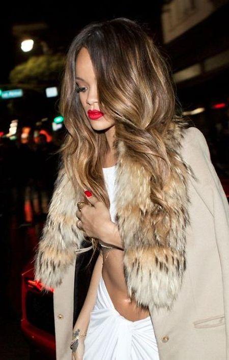 Rihanna's balayage hair