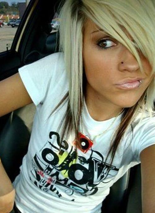 Blonde emo girl hairstyles