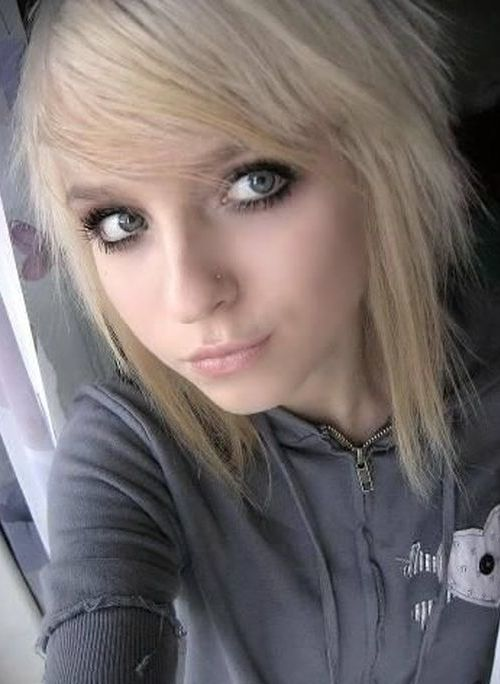 emo hairstyles Blonde girl