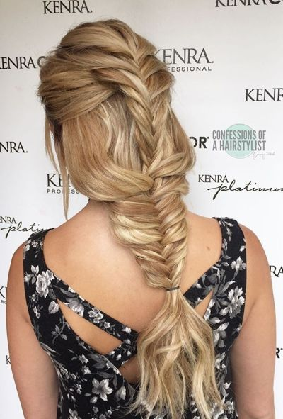 Simple double fishtail braids