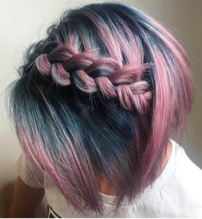 Stunning headband braid for short hair