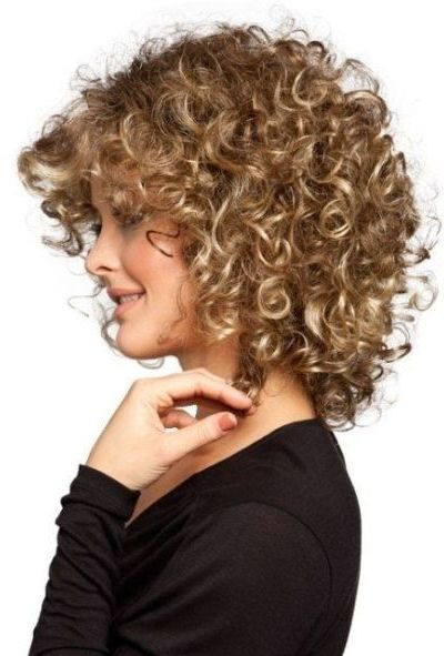 Voluminous perm hairstyle