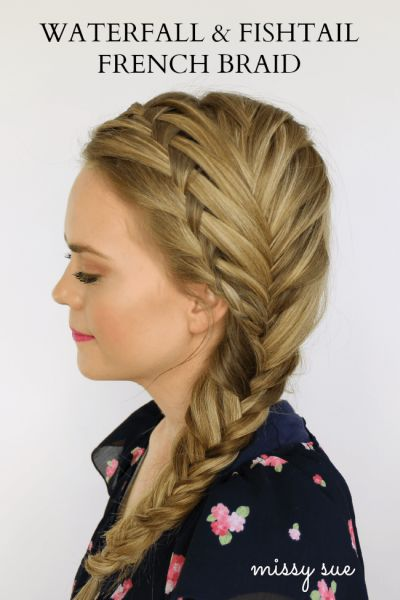 Waterfall and fistail braids