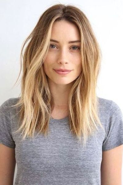 Wavy Shoulder Length Hairstyle