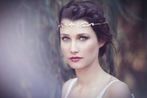 accessorize with gold wedding hair